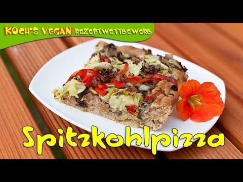 Vegane Spitzkohlpizza Von Jen Vom Gartengemüsekiosk – Koch's Vegan-Kochvideo-Wettbewerb