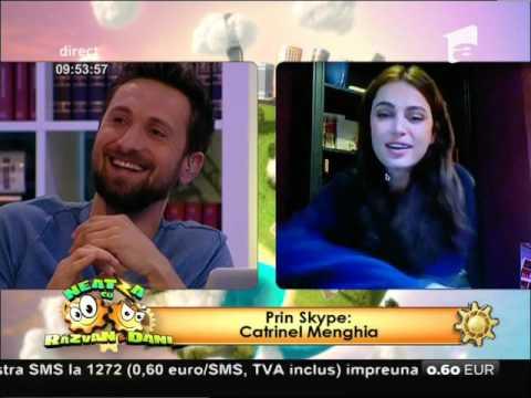 """Dani Oțil și Catrinel Menghia, flirt în direct: """"Ne vedem la București"""""""