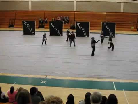 Central High School from Bridgeport Winter Guard MAC Norwalk High School