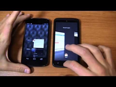Google Nexus 4 vs. HTC One X+ Dogfight Part 1