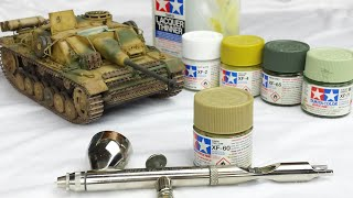 Painting Field-Applied Camo with Tamiya Paints for Scale Models