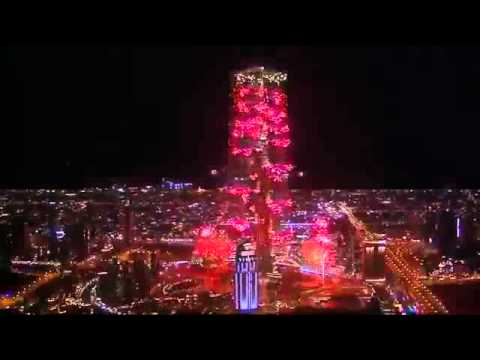Ar Rahman Music Played At Dubai 2014 New Year's Eve Fireworks video