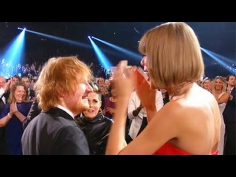 2016 Grammy Awards- Taylor Swift's Reaction To Ed Sheeran's Win Is Adorable (2016 Grammys)