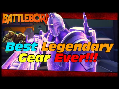 Best Legendary Gear Loot Drop! Overshield For Days! Battleborn Executive Insurance Plan Legendary!