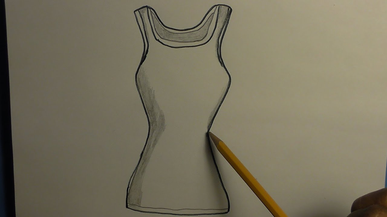 How to draw a tank top youtube for Best drawings to draw