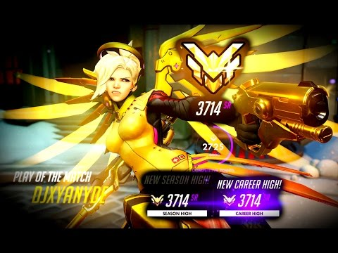 [Overwatch] 3714 Master Mercy Solo Q POTG