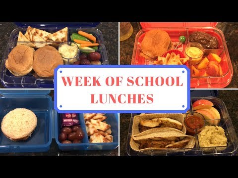 School Lunch Ideas | Week 4 | Week of School Lunches | September 2017
