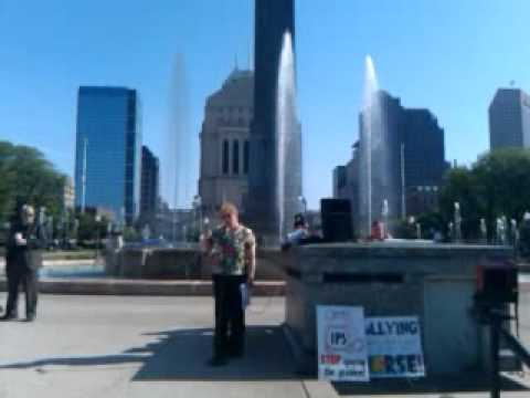 More video of the rally for the Indianapolis gay teen who was suspended ...