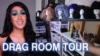 DRAG ROOM TOUR! Makeup Collection & Organization
