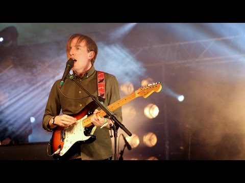 Bombay Bicycle Club perform on the BBC Introducing stage at Glastonbury Festival 2014