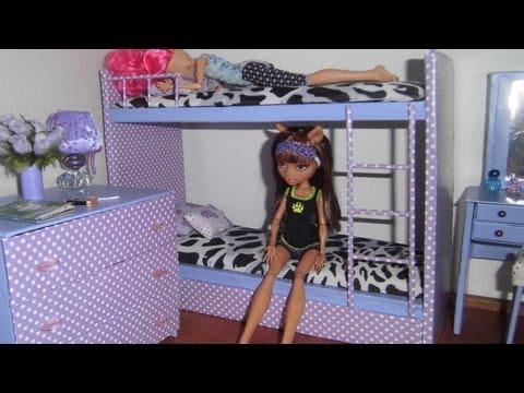 Como fazer beliche treliche para boneca Monster High. Barbie e etc
