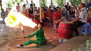 Bé múa lửa đám ma - phung lửa,cắn tiền quá hấp dẫn