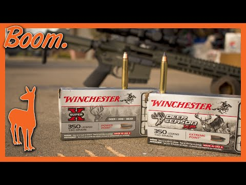350 Legend Two-Punch Knockout in Ballistic Gel! Winchester Deer Season XP & Super X Power Point