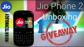 [1st GIVEAWAY ] UNBOXING of JIO Phone 2 in 2999rs||HINDI||