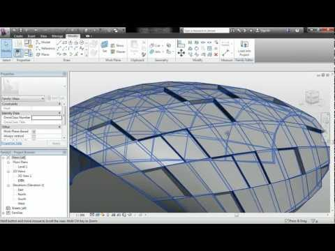 Revit 2013 - Superficie con grosor + Paneles rectangulares