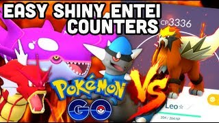 EASY SHINY ENTEI RAID COUNTERS IN POKEMON GO