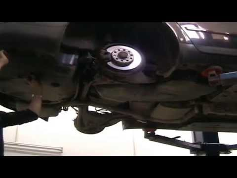 AUDI A4 1 9 TDI 02 CHANGE HANDBRAKE CABLES.avi