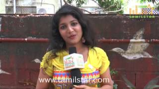 Rexa Raj At Pandiyoda Galatta Thangala Movie Team Interview