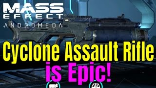 MASS EFFECT: ANDROMEDA - CYCLONE Assault Rifle Weapon Guide/Review | Multiplayer Gameplay