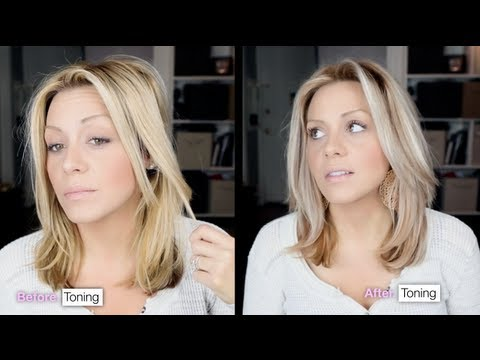 The Right way to Tone Brassy hair into cool toned blonde in 15 minutes.