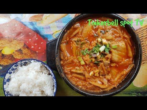 Корейский суп Кимчи Тиге с тунцом рецепт Tuna Kimchi Jigae recipe