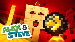 😨 ATTACKED IN THE NETHER?? | The Minecraft Life of Alex & Steve | Minecraft Animation