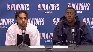 D'Angelo Russell & Caris LeVert Postgame Interview - Game 2 | Nets vs 76ers | 2019 NBA Playoffs