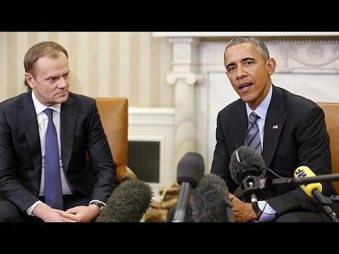 Ukraine : Obama et Tusk insistent sur l'unité pour imposer des sanctions à Moscou