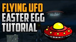 Grand Theft Auto 5: Flying UFO Easter Egg! 100% Game Completition Easter Egg (GTA 5 Flying UFO)