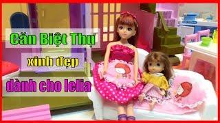Ngôi Biệt Thự cho bup be barbie , căn nhà mơ ước của búp bê đồ chơi baby lelia toy doll