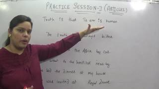 ARTICLES PRACTICE SESSION 1  FOR SSC CGL CHSL GOVERNMENT JOB CLAT