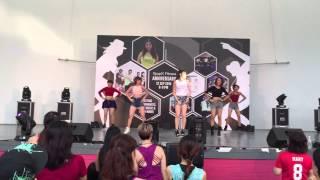 J Platform instructors performing for KpopX Anniversary 2015