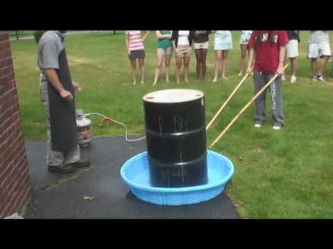 55 Gallon Steel Drum Can Crush Youtube
