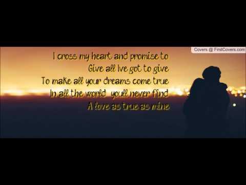I cross my heart with lyrics