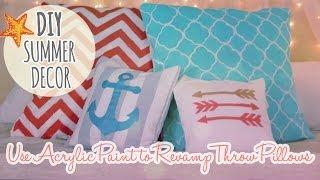 DIY Summer Decor Episode 1 - Revamp and Paint Throw Pillows