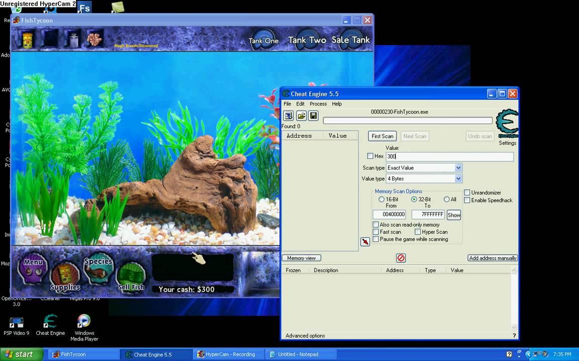 Fish tycoon money cheat hack youtube for Fish tycoon 2 cheats