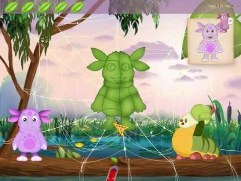 Лунтик - Картины из кусочков. Развивающее видео для детей.