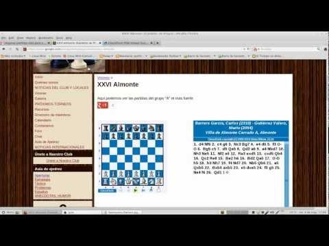 Insertar partida de ajedrez en sitio web