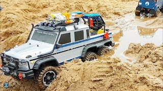 RC CRAWLER 6x6 RESCUE and BOAT KIDNAPPING