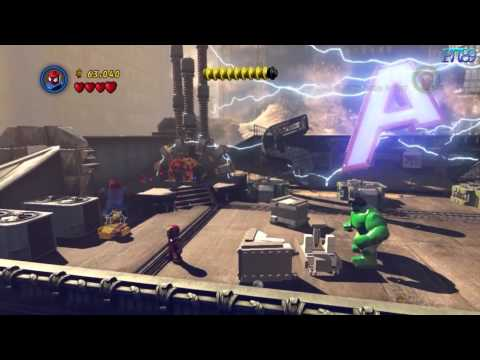 LEGO MARVEL Super Heroes DEMO Gameplay Walkthrough - Iron man, Hulk, Spider-Man (PC HD)