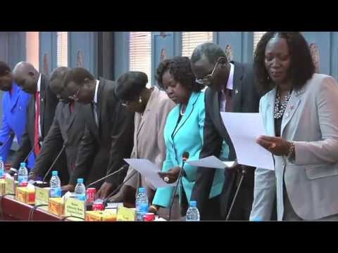 WorldLeadersTV: SOUTH SUDAN: NEW CABINET SWORN IN (UNMISS)