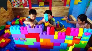 Kids Go To School | The Children's City of Hacona with toys and games Prank Ball House #2