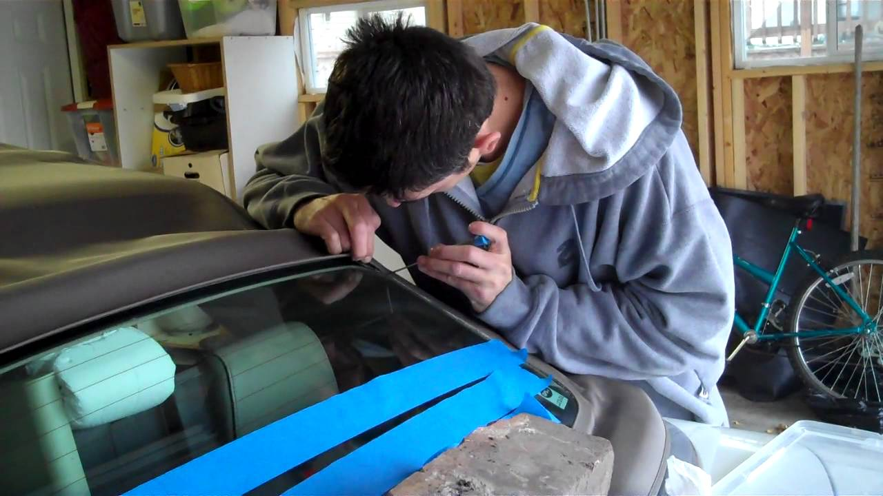 Fixing Audi Convertible Rear Window With Jb Weld 2nd