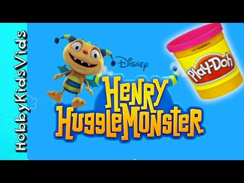 Make Henry Huggle Monster! Play-Doh Sculpt by HobbyKidsVids
