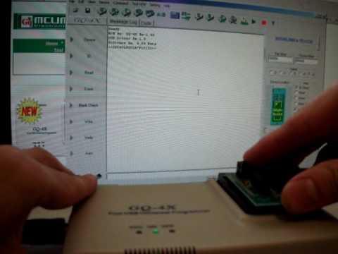 ADP-030 FWH/LPC BIOS PLCC32 adapter on GQ-4X Programmer SST 49LF002A