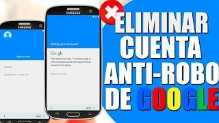 Eliminar cuenta y bloqueo de Google - Cualquier Android