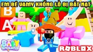 ROBLOX | Em Bé Vamy Mập Bị Bé Hường Nghiệp Tụ Bắt Nạt | Baby Simulator | Vamy Trần