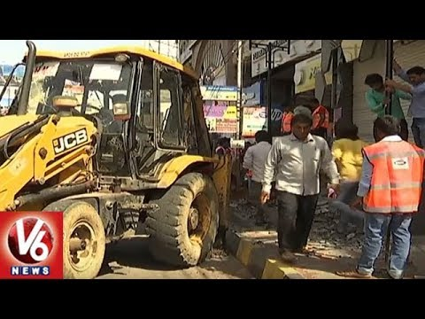 GHMC Focuses On Footpath Encroachment In Hyderabad City | V6 News