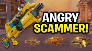 The Worlds Angriest Scammer Ever Scams Himself Scammer Get Scammed Fortnite Save The World