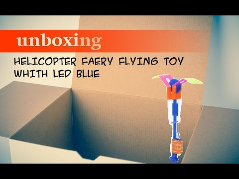 HELICOPTER FAERY FLYING TOY WHITH LED BLUE